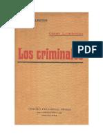 Cesar Lombroso - Los Criminales