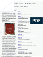 Borón, Atilio - La Filosofía Política Moderna. de Hobbes a Marx