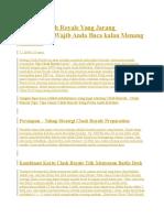 Strategi Clash Royale Yang Jarang Dipublikasi