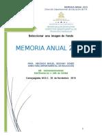 modelo MEMORIA ANUAL 2015  DDEFM  DISTRITALES  Y  MUNICIPALES 2.doc