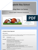 cbs pd planning - warm up games