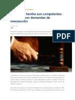 Interdiccion Conocen Jueces de Familia