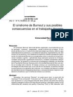 Dialnet-ElSindromeDeBurnoutYSusPosiblesConsecuenciasEnElTr-2004369