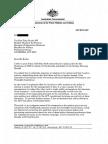 Letter to Tony Burke
