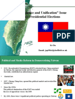 "The ""Independence and Unification"" Issue in Taiwan's Presidential Elections"