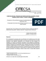 Comparación Del Proceso de Purificación Del Glicerol Crudo Usando Ácido Cítrico y Ácido Clorhídrico