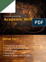 Academic Writing I