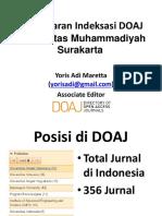 Strategi Indeksasi DOAJ