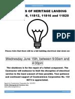 Power Shut Down - June 15 2016