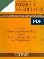 Nuevas Perspectivas de La Antropologia Social Venezolana