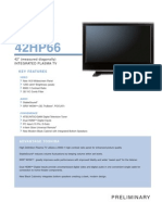 Toshiba 42HP66 Specifications