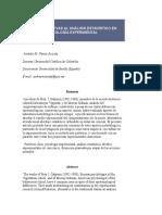 Dos Alternativas Al Análisis Estadístico en Psicología Experimental
