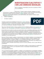 Metodos de Investigacion Cualitativo y Cuantitativo en Las Ciencias Sociales