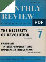 Ruy Mauro Marini - Brazilian Interdependence and imperialist integration
