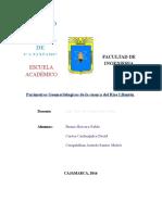 PARAMETROS GEOMORFOLOGICOS DE UNA CUENCA