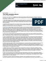 The Data Analytics Boom - Forbes.com - Magazine Article