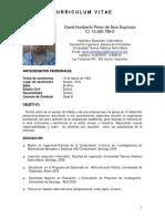 CV David Perez Tecnico Instrumentista