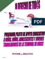 Programa Piloto de Apoyo y Seguimiento Educativo de Niñas, Niños,Adolescentes y Jovenes Trabajado