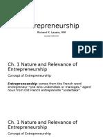 Ch 1 Entrepreneurship