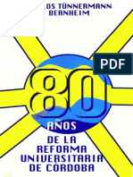 Tunnermann- Ochenta Años de Reforma Universitaria