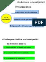 3. Tipos de Investigaciones