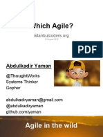 Which Agile 13 Aug 2015