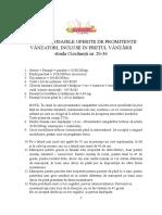 Lista Cu Finisajele Oferite de Promitentii -Ciocanesti