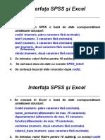 Interfata Excel SPSSh