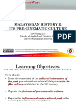 Malaysian History & Pre-cinematic Culture