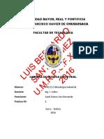 LUIS BERNARDO SANTI GÓMEZ - UMRPSFXCH - Practica Nº 1 Mineralogía