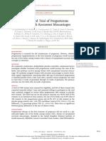 [NEJM] randomized trial of progesterone.pdf