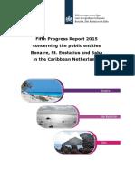 Fifth Progress report BES islands