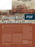 Preventing Defect Claims in Hot, Humid Climates
