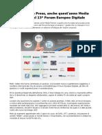Forum Europeo Digitale 2016