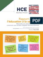 Education à la sexualité. Le rapport du HCEfh