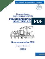 Vorlesungsverzeichniss SS 2016