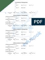 Differentiation & Integration Test