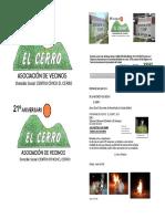 Programa de las Fiestas de San Juan, organizadas por la Asociación de Vecinos/as El Cerro de Coslada
