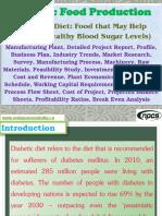 Diabetic Food Production (Diabetes Diet