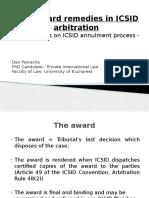 Annulment Proccess of a an ICSID Award