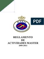 Reglamento de Actividades Masters-2009-2013