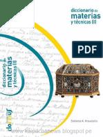 Diccionario Materia y Tecnicas I