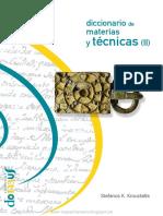 Diccionario Materia y Tecnicas II