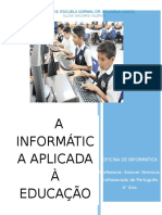 Trabalho Nro 1- Informatica Aplicada à Educação