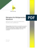 Managing the Multigenerational Workforce
