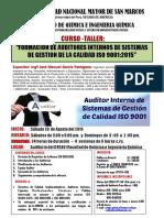 Curso - Formacion de Auditores Internos - 20 de Agosto Del 2016