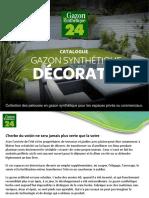 Catalogue Gazon Decoratif  Gazon Synthetique 24