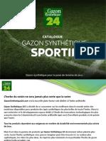 Catalogue Gazon Sportif  Gazon Synthetique 24