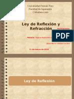 Ley de Reflexión y Refracción