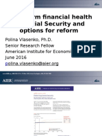Long-term health of Social Security and options for reform